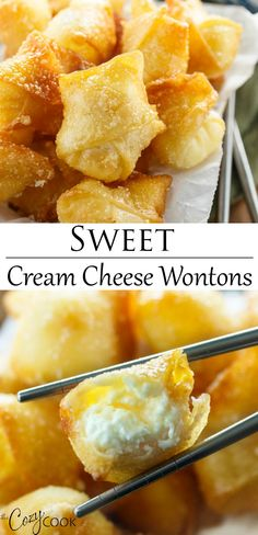 Sweet Cream Cheese Wontons – You are in the right place about greek Food Recipes Here we offer you the most beautiful pictures about the Food Recipes low carb you are looking for. When you examine the Sweet Cream Cheese Wontons – part of the picture you … Gluten Free Chinese Food, Vegetarian Chinese Recipes, Homemade Chinese Food, Chinese Chicken Recipes, Easy Chinese Recipes, Korean Chicken, Korean Beef, Chinese Desserts, Fast And Easy Recipes