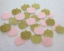 200 Little Pumpkin Confetti Little Pumpkin First Birthday Pink Gold Little…