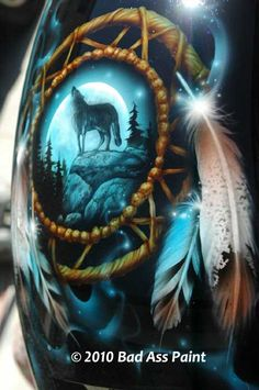 One of our most popular custom motorcycle designs of late has been Native American art. Description from badasspaint.com. I searched for this on bing.com/images