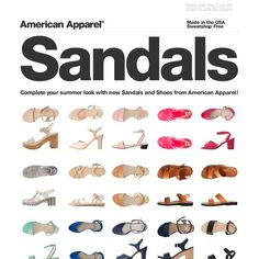 American Apparel - Made In USA Sandals & Shoes!