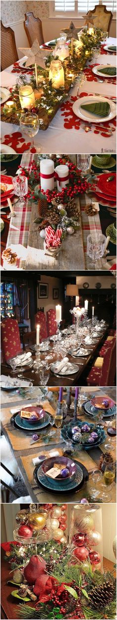 Christmas table settings and centerpiece ideas