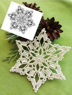 Free Crochet Doily Patterns, Crochet Snowflake Pattern, Crochet Stars, Christmas Crochet Patterns, Crochet Blocks, Crochet Snowflakes, Crochet Motif, Crochet Doilies, Knit Crochet