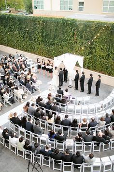 Ceremony seating...cute