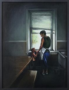 """""""Waiting for the School Bus"""" by Naomi Menkis"""