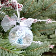 snow globe ornament |a simple DIY from NellieBellie