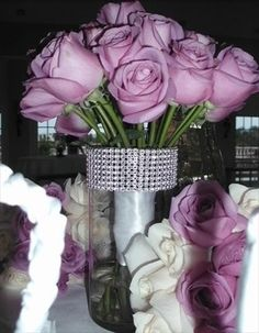 rhinestone diamond wrap for vases