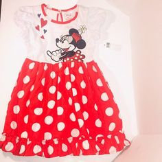 NWT Disney's Minnie Mouse Polka Dot Dress Size 5/6
