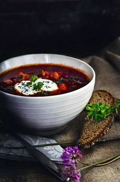 Food Inspiration, Chili, Food And Drink, Cooking, Tableware, Recipes, Soups, Koti, Waiting