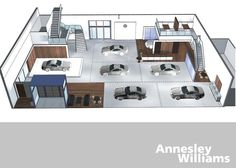 Concept Design for Annesley Williams Car Showroom  http://www.ibe.ie/retail4.html