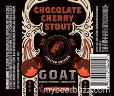 mybeerbuzz.com - Bringing Good Beers & Good People Together...: Horny Goat Limited Edition Chocolate Cherry Stout