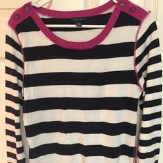 Striped shirt with pink trim Tommy Hilfiger striped light sweater, never worn was a gift for me Tommy Hilfiger Sweaters