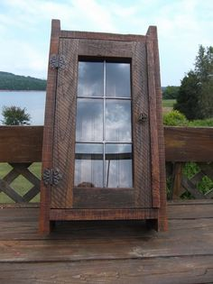 Rustic Leaded Glass Barnwood Medicine Cabinet By LAKEWAYCANDLES, $150.00
