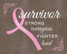 Breast Cancer Survivor Pink Ribbon Wall by AsYouWishCreations4u