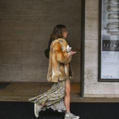 converse, dress & fur #lookswedig