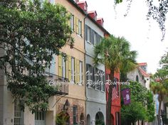 RAINBOW ROW  Charleston SC  Fine Art Photograph With by LensOnLife, $12.00
