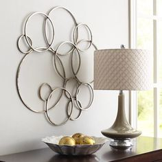 Pier 1 Imports Silver Circles Metal Wall Decor