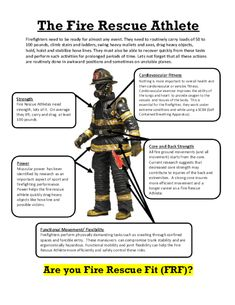 I often get asked by Firefighters, EMTs and Paramedics to evaluate their current fitness programs and to possibly give some suggestions. I always try to explain… Firefighter Workout, Firefighter Training, Firefighter Family, Firefighter Paramedic, Female Firefighter, Firefighter Quotes, Volunteer Firefighter, Firefighter Recruitment, Firefighter Pictures