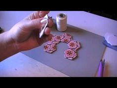 threadbasting hexies (best tutorial I've seen) #hexies #quilting