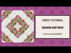 Video tutorial: Diamond quilt block – quick and easy quilting | Sewn Up