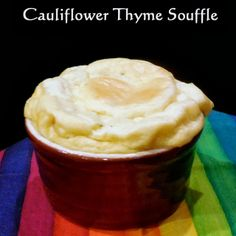 Broken Teepee: Cauliflower Thyme Souffles with Salmon on Fried Green Tomatoes with a Balsamic Reduction- Recipes