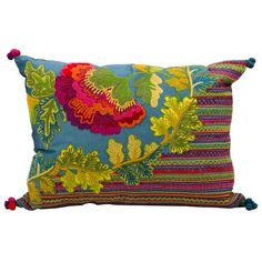 Really pretty bohemian style accent pillow. Mina Victory by Nourison Fantasia Ocean Pillow (13 in x 17 in)