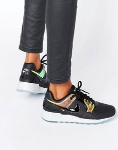 Nike | Nike Air Pegasus Trainers In Holographic Black