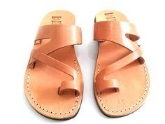 Leather Sandals, Leather Sandals Women, Sandals, Women's Shoes, JERICHO, Flip Flops, Biblical Sandals, Jesus Sandals, Jerusalem Sandals by Sandalimshop on Etsy