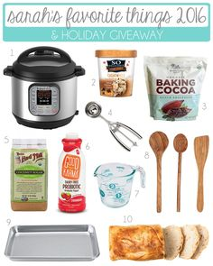 Who's ready for Sarah's Favorite Things 2016? From kitchen gadgets to baking ingredients, these are my current must-haves. I look forward to this post all year. Mostly because I get to share the top 10 things I'mloving right now, but also because it's the biggest giveaway on my blog. This year, it's even more amazing …