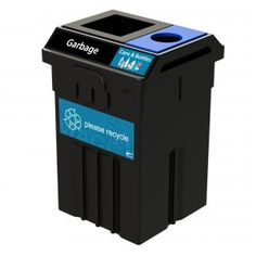 TPM51-2: #CommercialRecycling bin designed for indoor and outdoor construction. It supports up to 4 separate types of waste and recyclables. #CampusRecycling #OfficeRecycling