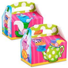 Topsy Turvy Tea Party Empty Favor Boxes from BirthdayExpress.com