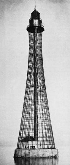 One of the tallest lighthouses in the world.  Adziogol by Vladimir Shukhov Hyperboloid Lighthouse 1911. Steel. 64m. Kherson. Ukraine. Tallest in Ukraine.