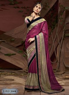 Dreamy Pink Coloured Georgette Embroidered Saree