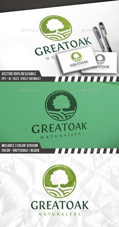 Oak Tree Logo Template — Vector EPS #creativity #green • Available here → https://graphicriver.net/item/oak-tree-logo-template/13537006?ref=pxcr