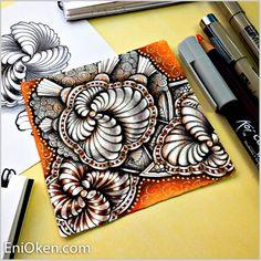 Learn to create beautiful Zentangle®️ * enioken.com