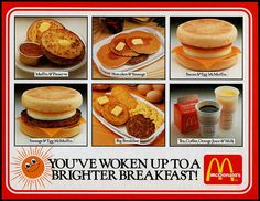 1980s McDonalds breakfast...knew this menu a little too well!