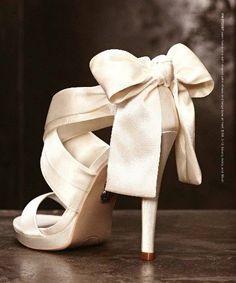 Fab satin wedding shoes ♥