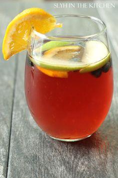 Fruity Sangria @FoodBlogs