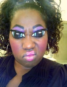 makeup... very peculiar. but in some odd way i sort of appreciate this...