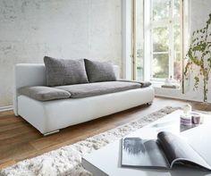 Couch Benno Weiss Hellgrau Sofa mit Schlaffunktion und Bettkasten Jetzt bestellen unter: https://moebel.ladendirekt.de/wohnzimmer/sofas/schlafsofas/?uid=9994aade-245f-5616-aa94-ad79b4d610e7&utm_source=pinterest&utm_medium=pin&utm_campaign=boards #schlafsofas #sofas #wohnzimmer