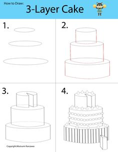 Drawing a 3-D cake will be a piece of cake! Learn to draw cylinder shapes and become a cake designer. Decorate your cake by adding whipped creams, fruits and chocolate!