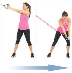 High-Low Chops with resistance bands is amazing for middle, side abs