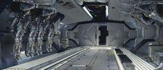 Space Corridor - Halo 4 Concept Design by Maciej Kuciara