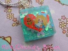 Heart Alice in Wonderland Resin Necklace by MilkChocolateDream, $8.00