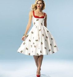 Vintage Retro Sewing Pattern Misses Dress Pin Up Rockabilly Peek a Boo Shelf Bra