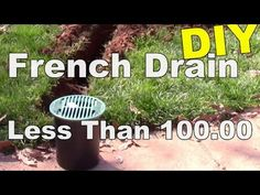 Do it yourself install a patio drain remove standing water from diy french drain side walk drain under 10000 solutioingenieria Gallery