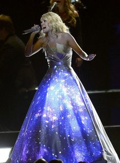 "Challenge LED dazzle colour dress, shows ""bright galaxy"" style - Blog"