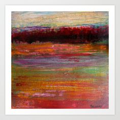 A walk through the fields Art Print by Sandrine Pelissier - $14.56