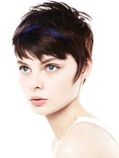 Short Pixie Hairstyles for Fine Hair - Hairstyle Archives Messy Short Hair, Short Hairstyles For Thick Hair, Short Hair Cuts For Women, Girl Short Hair, Pixie Hairstyles, Hairstyles With Bangs, Cool Hairstyles, Short Hair Styles, Short Pixie