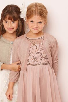 Flower girls different colors and design on the dress but cute