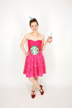 How to Dress Like a Starbucks #PinkDrink For Halloween